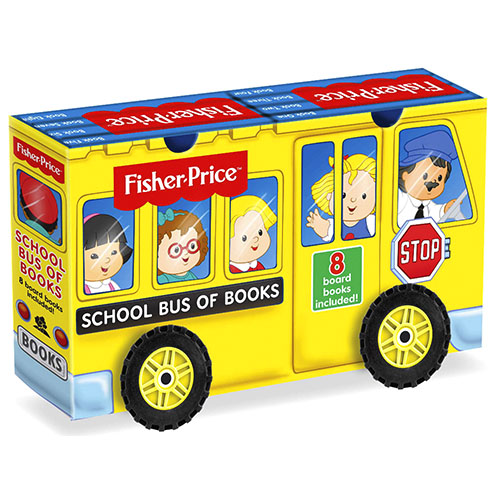 Fisher Price School Bus of Books Slipcase with Wheels