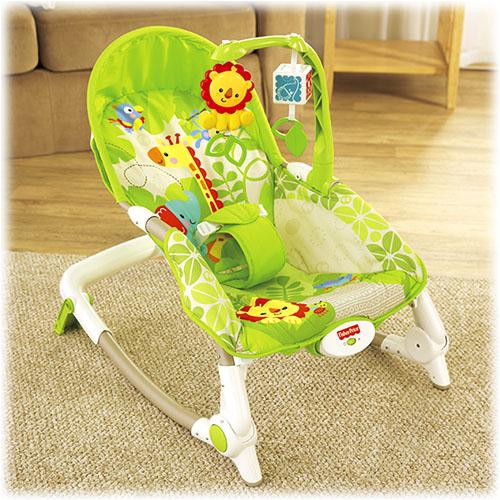 Zielony fotelik-bujaczek Newborn-to-Toddler Portable Rocker