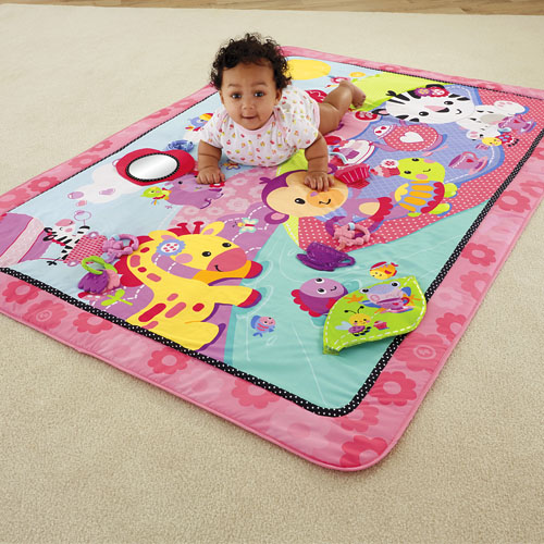 fisher price gro e spiel und krabbeldecke pink. Black Bedroom Furniture Sets. Home Design Ideas