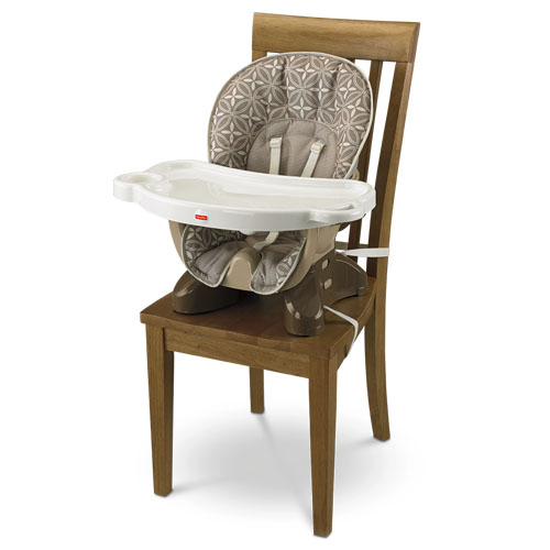 SpaceSaver High Chair – Tan Lattice