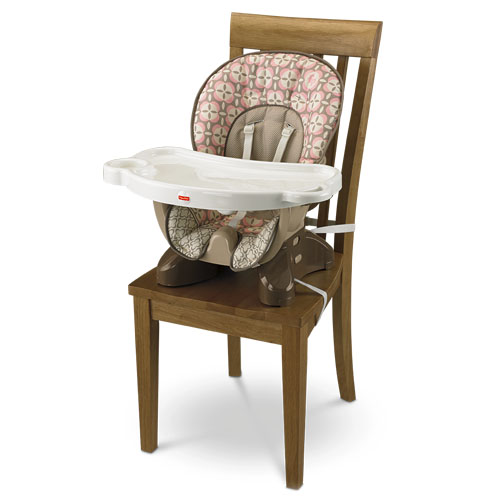 SpaceSaver High Chair – Pink Lattice