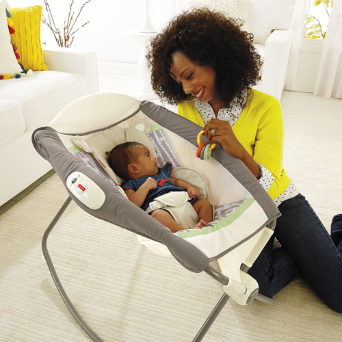 fisher price cradle n swing instructions