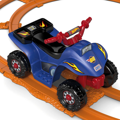power wheels hot wheels lil 39 quad with track shop power wheels ride on cars trucks. Black Bedroom Furniture Sets. Home Design Ideas