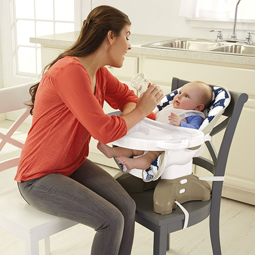 SpaceSaver High Chair - Blue