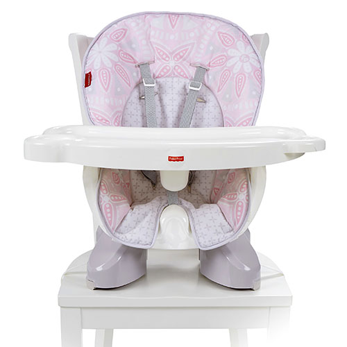 SpaceSaver High Chair - Light Pink