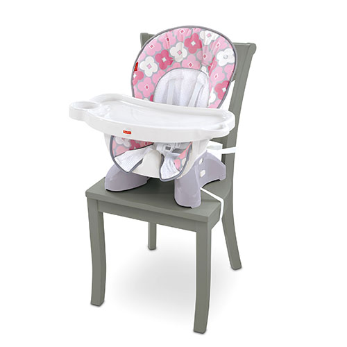 SpaceSaver High Chair - Pink white