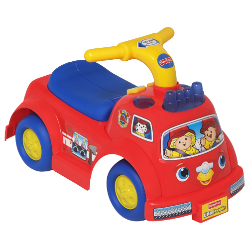 little people lil 39 fire truck ride on shop little people toddler toys fisher price. Black Bedroom Furniture Sets. Home Design Ideas