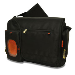 Deluxe Messenger Diaper Bag with the FastFinder™ Pocket System (Black)