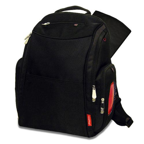 deluxe sporty diaper backpack with the fastfinder pocket system black. Black Bedroom Furniture Sets. Home Design Ideas