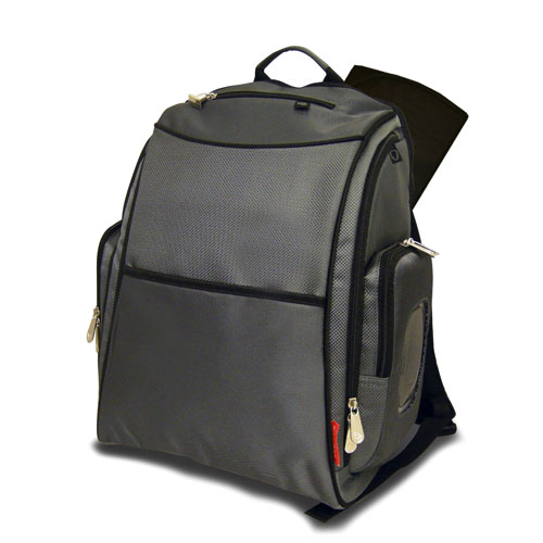 deluxe sporty diaper backpack with the fastfinder pocket system gray. Black Bedroom Furniture Sets. Home Design Ideas