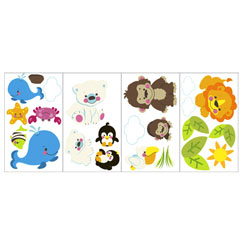 Peel 'n stick these adorable Precious Planet animals onto nursery walls for a precious room design!