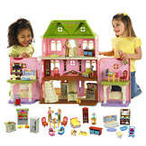 Loving Family™ Grand Dollhouse Gift Set (Caucasian Family) Buy Gift Set & Save!