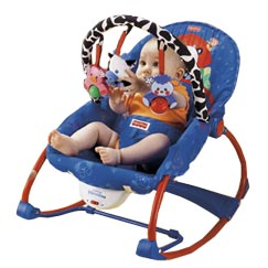 Fisher price infant to toddler rocker blue for Chaise vibrante