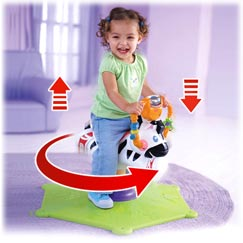Go Baby Go!Bounce and Spin Zebra