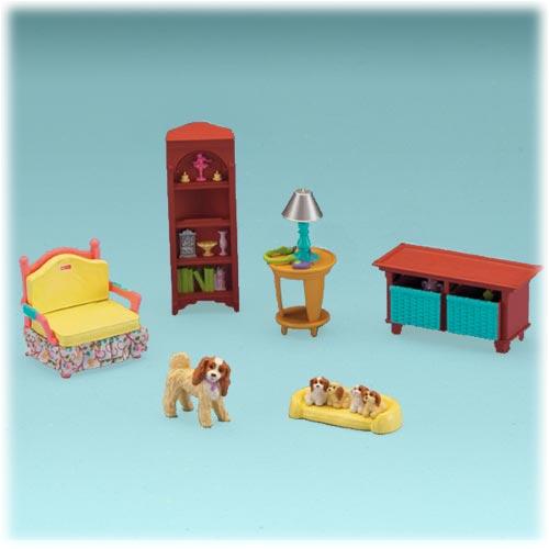 Sala de estar de loving family for Fisher price loving family living room