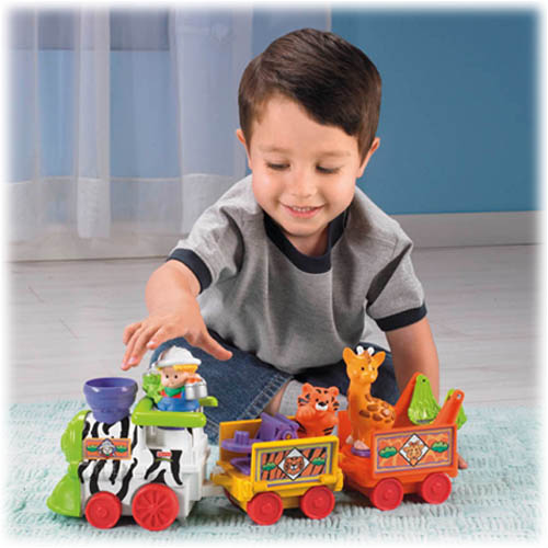 Toddler Toys People : Little people musical zoo train shop