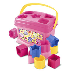 Brilliant Basics Babys First Blocks - Pastel - Fisher-Price Online Toy Store