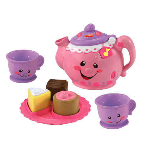fisher price laugh learn baby toy say please tea set teapot teacups new ebay. Black Bedroom Furniture Sets. Home Design Ideas