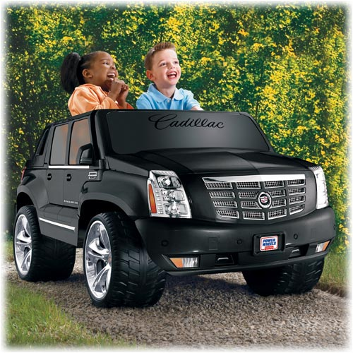 power wheels cadillac escalade black shop power. Black Bedroom Furniture Sets. Home Design Ideas