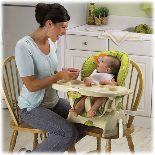 new fisher price space saver feeding high chair booster ebay