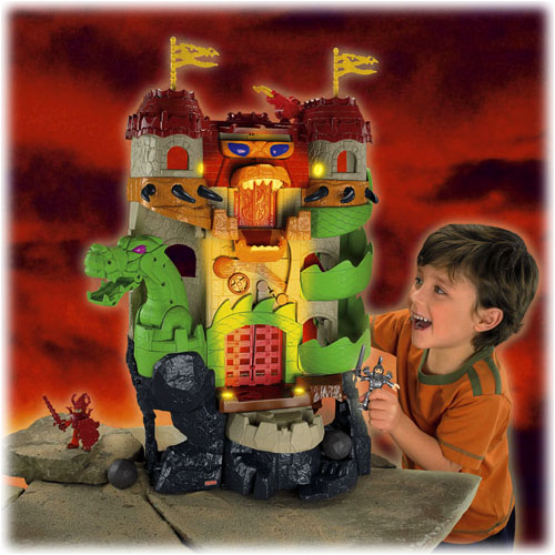 NEW Fisher Price Imaginext Dragon World Fortress Castle | eBay