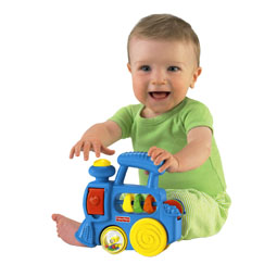 Rolling wheels for push-along fun with music, sounds and busy activities!