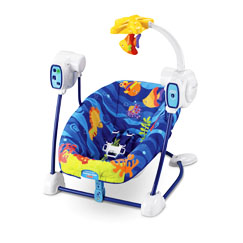 Ocean Wonders Deep Blue Sea SpaceSaver Swing and Seat
