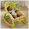 For older babies—upright seat or rocker.