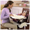 Newborn: Three-position recline—tray stays level!