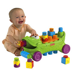 Stack 'n Surprise™ Blocks Musical Croc Block Wagon™