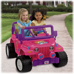 Power Wheels® Barbie™ Jammin' Jeep ® Wrangler (Pink)