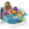 "Contoured ""baby stopper"" insert keeps your infant from sliding into water."