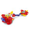 Spinning propeller and rattling beads for poppity-pop fun!