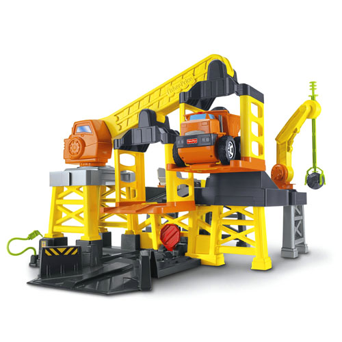 Remote Control Construction Toys : New fisherprice big action construction site w remote