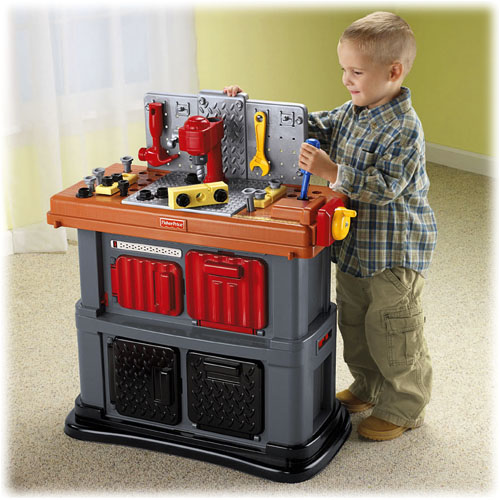 Fun to imagine grow with me workshop Fisher price tool bench