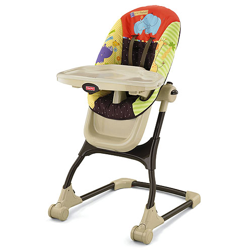 Luv u zoo ez clean high chair for Chaise haute fisher price