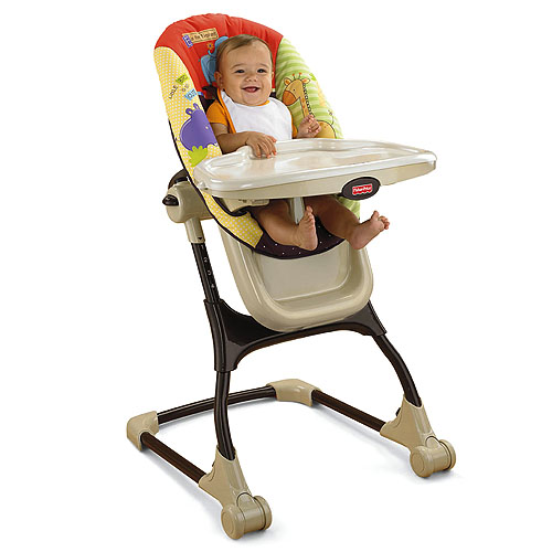 Silla de comer ez clean de luv u zoo for Silla fisher price