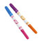 Comes with 2 dual-tipped washable markers (drawing tip at one end; stamper at the other).