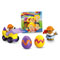 Includes DVD, Little People® figure, Wheelies™ vehicle and 2 Easter eggs!