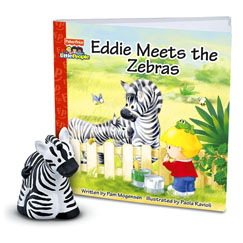 Little People® Zoo Talkers™ Book & Figure Set Eddie Meets the Zebra