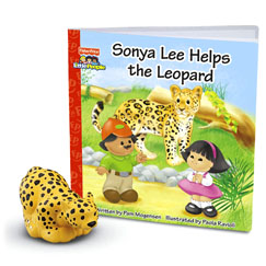 Little People® Zoo Talkers™ Book & Figure Set Sonya Lee Helps the Leopard