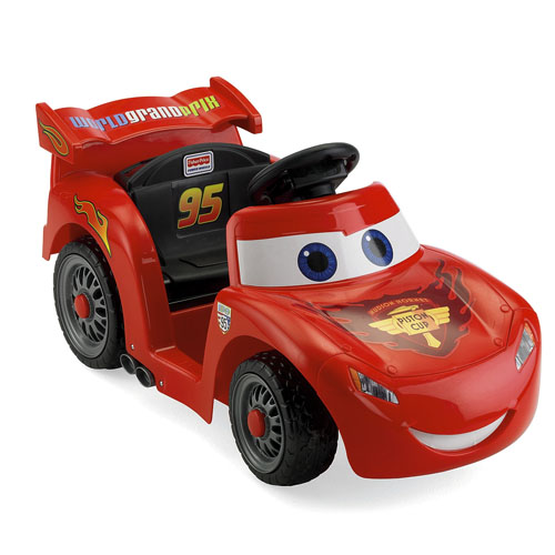 Fisher price power wheels cars rayo mcqueen vehiculo for Fisher price motorized cars