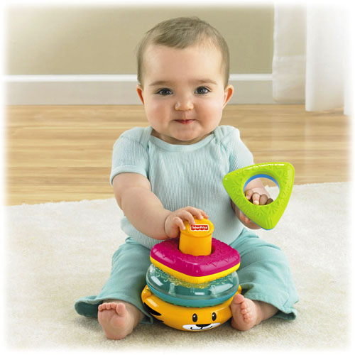 New Fisher Price Growing Baby Tiger Stacker Baby Learning