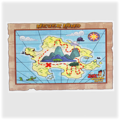 Jake Neverland Pirates Treasure Map
