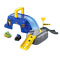 Includes: 2 Wheelies™ vehicles (Batman & The Joker), 2 Batcave pieces, 3 ramp pieces, and removable gate/sign piece.