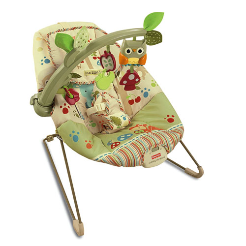 woodsy friends comfy time bouncer