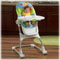 Adjusts to 4 different heights to grow with baby, with 3-position recline, and wheels to move from room to room. Folds for storage, too!