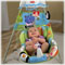 Motorized mobile & mirrored globe entertain baby overhead!