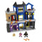 Includes play set with foldout stairs, launcher with projectile, The Joker and Bruce Wayne figures with accessories to turn him into Batman™!
