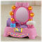 Open/close compact, soft puff, bracelet to wear and roller to bat & spin!